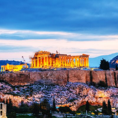 acropolis in athens  (header )