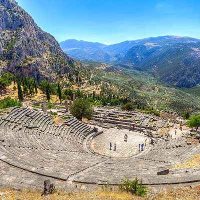 Ancient Theater in Delphi - Greece Vacation Packages from India