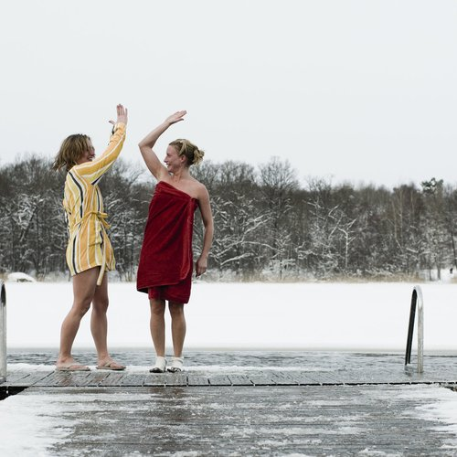 For the Really Brave - A Winter Swim After Sauna - Sweden Tour Packages from India