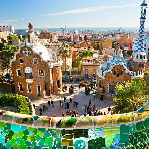 gaudi in barcelona (park guell)