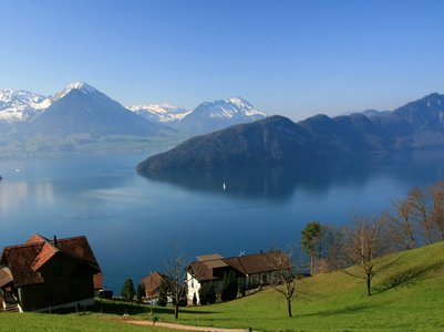 geneva lake view from mount.rigi(header) -  Europe Holiday Packages from India