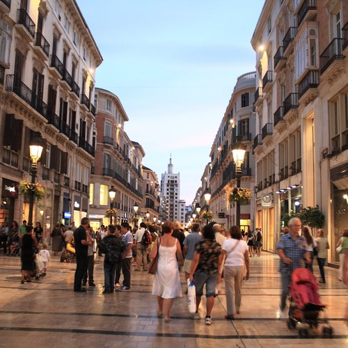 Larios Street, The Main Street of Malaga - Spain and Portugal Tours Packages