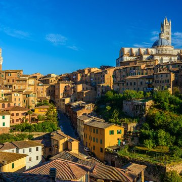 panorama of siena, tuscany