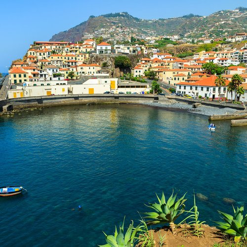 port in fishing village camara de lobos on south coast of madeira island