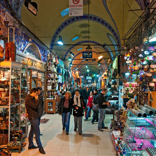 the grand bazaar, considered to be the oldest shopping mall in history