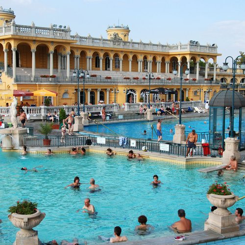 thermal bath in the szechenyi spa
